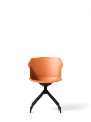 sedia visitatore cuoio clop