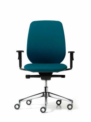 SKIN sedia operativa base 5 razze con braccioli regolabili