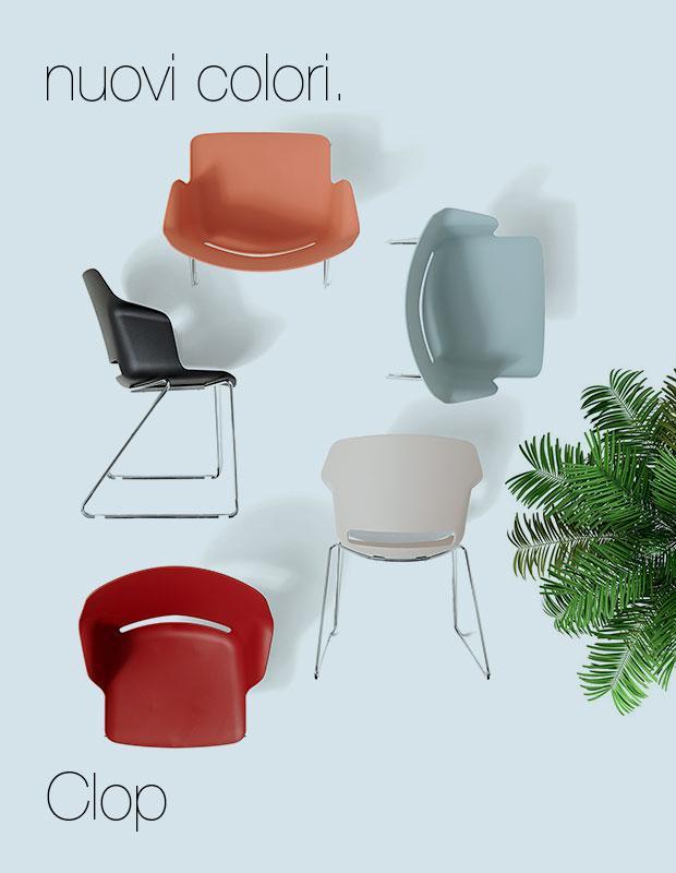 nuovi colori sedia ufficio clop