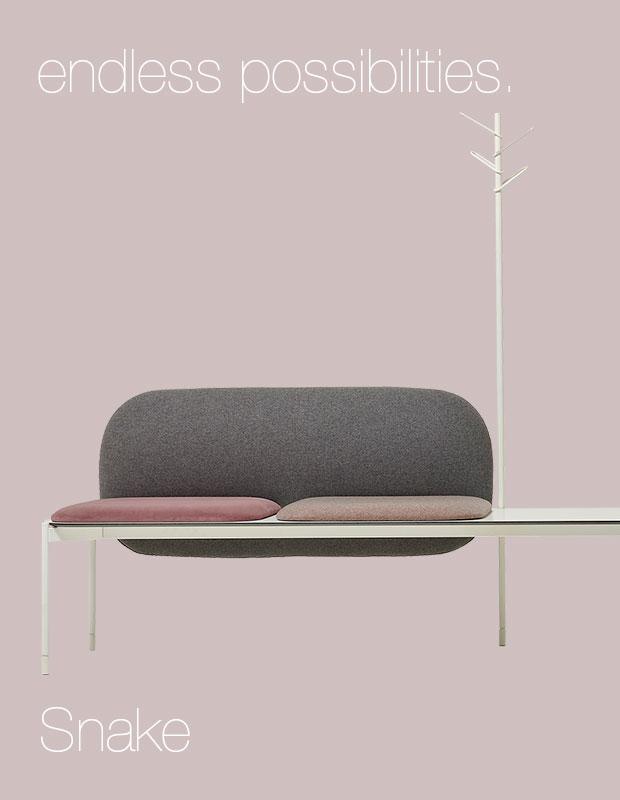 snake modular sofa